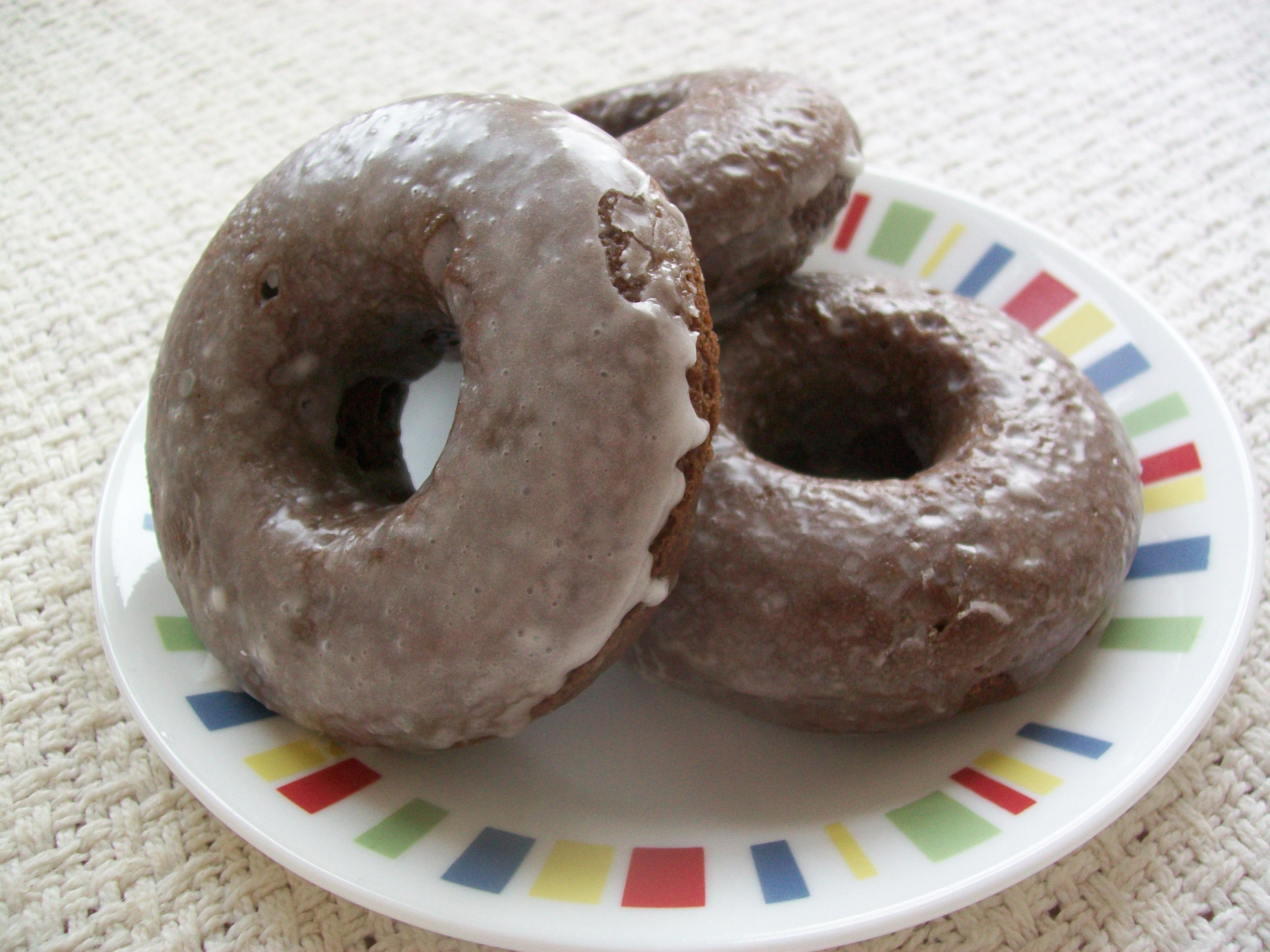Baked Chocolate Glazed Doughnuts   Emerald Thunder